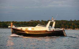 Charter yacht menorquin 120 open 2 double cabins up to 12 guests for day charters menorca