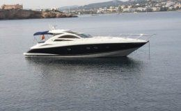 Charter yacht sunseeker portofino 53 up to 9 guests for day charters ibiza