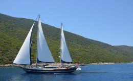 Blue heaven catamaran for charter in turkey