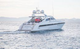 Divinity mangusta 80 yachts for charter in ibiza