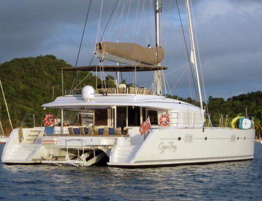 Copper penny crewed catamaran 3 double cabins up to 6 guests bvi