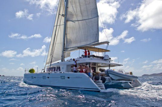 The cure lagoon 62 up to 6 guests tortola