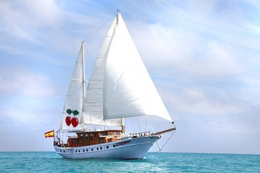 Pacha 67 turkish schooner day charter boat party up to 47 guests ibiza