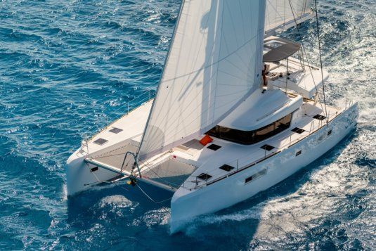 Summertime catamaran for charter in italy