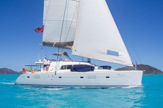 Azuria catamarans for charter in the bvi